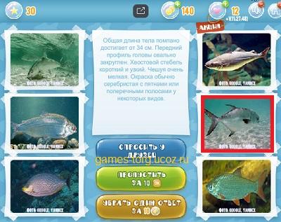 Тайны морских глубин уровень 30