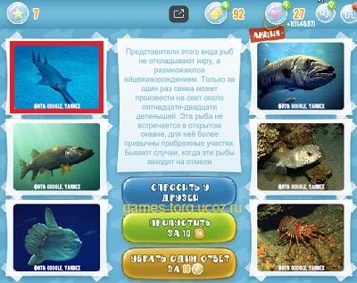 Тайны морских глубин уровень 7